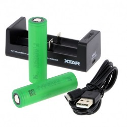 PACK Chargeur MC2+ 2 Accus SONY VTC6 18650