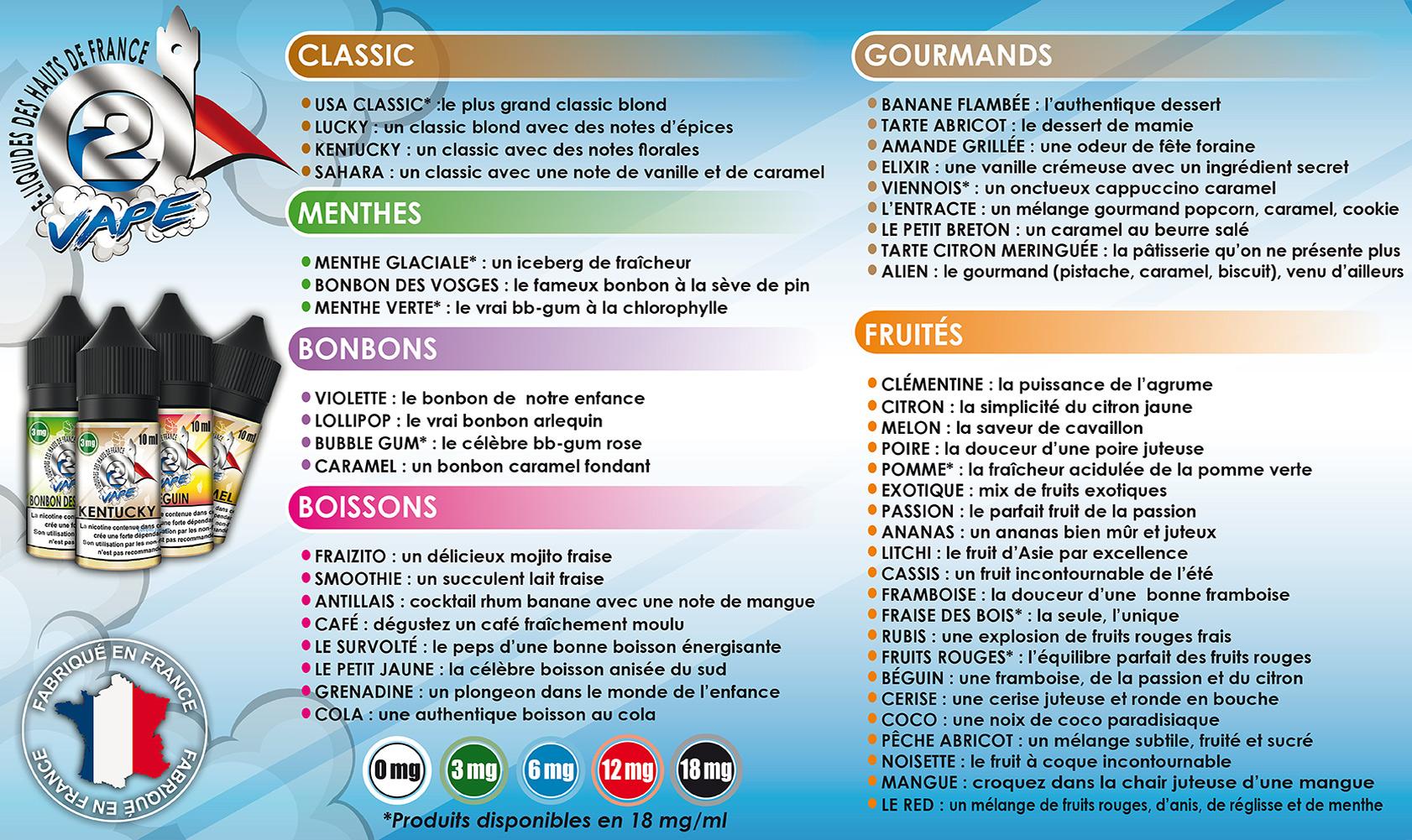 gamme saveurs 02 vape vape discount
